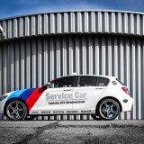 Fahrzeugfolierung-BMW-1er-Sablotny KFZ Meisterbetrieb-Werkstattauto