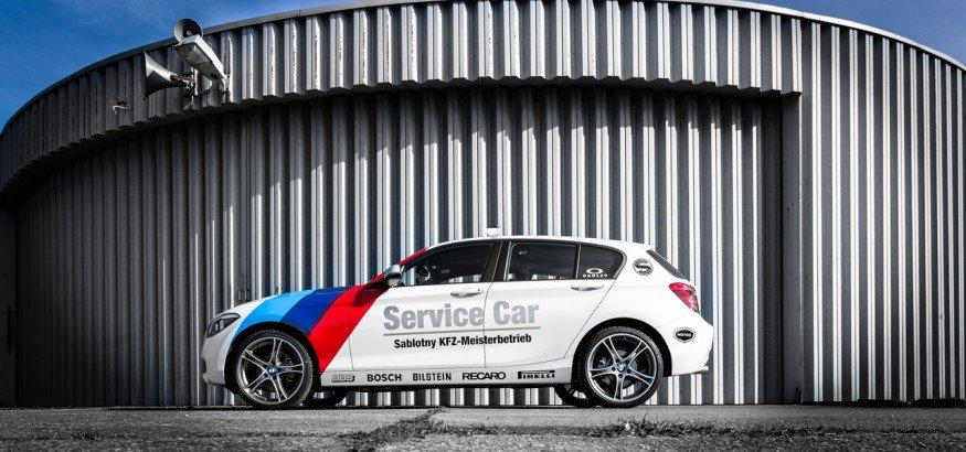 Fahrzeugfolierung BMW 1er Sablotny KFZ Meisterbetrieb Werkstattauto