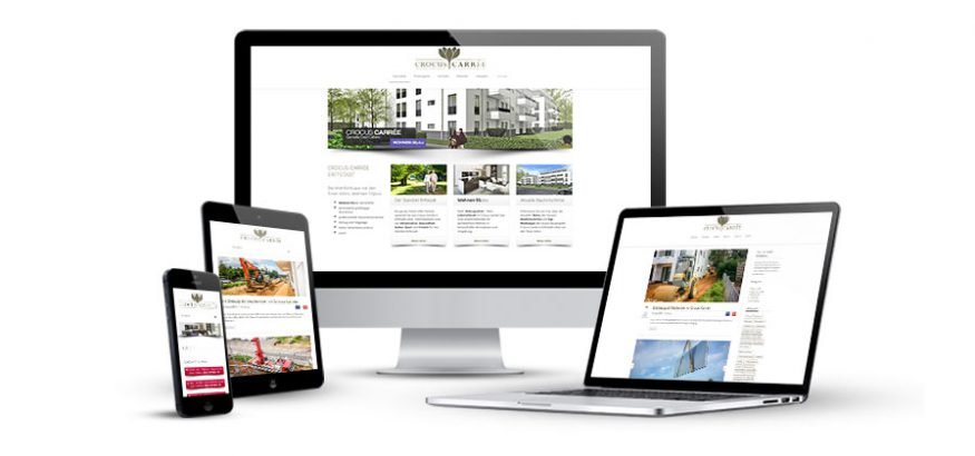 Webdesign Referenzen Crocus Carree KLUCKMEDIA Werbeagentur Mockup