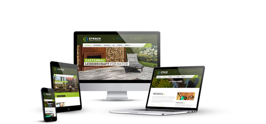 Corporate Design für Gartenbau Strack KLUCKMEDIA Werbeagentur