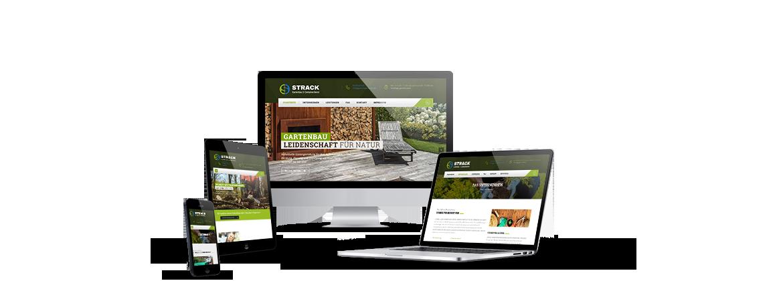 Corporate Design für Gartenbau Strack