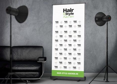 Roll Up Aufsteller Hair Style Aachen