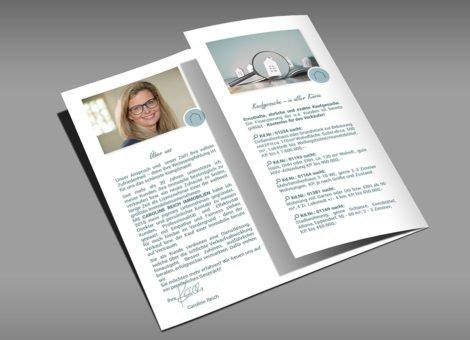 Caroline Reich Immobilien Flyer Innenseite Geklappt KLUCKMEDIA Werbeagentur