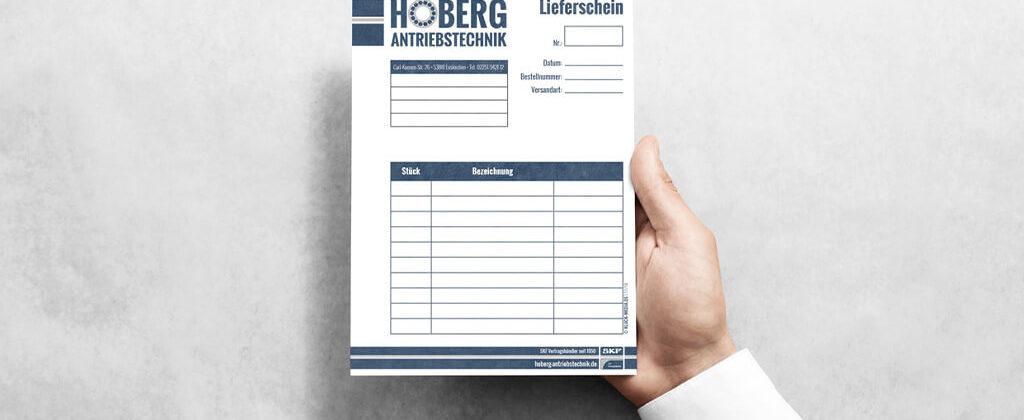 Hoberg Antriebstechnik Durchschreibesätze Kluckmedia
