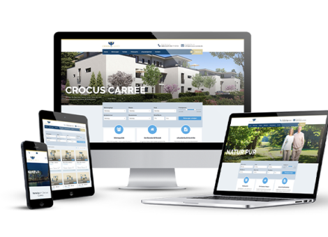 Mockup Webseiten ansicht Crocus Carree KLUCKMEDIA Werbeagentur
