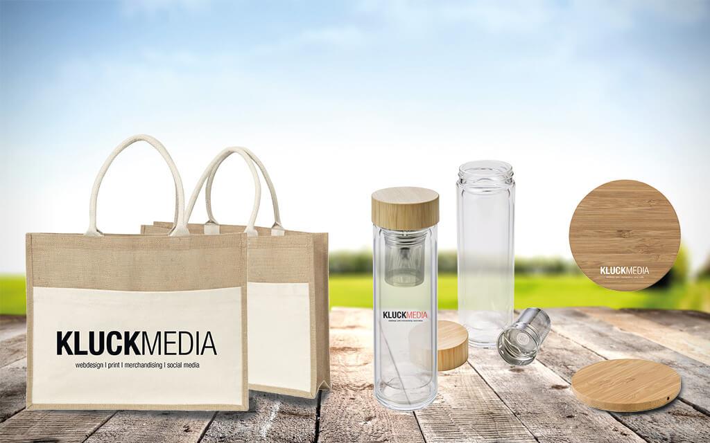 Nachhaltige Werbeartikel Mit Logodruck By Kluckmedia