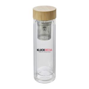 Doppelwandige Glasflasche nachhaltig