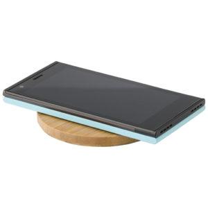 Nachhaltige Werbeartikel Wireless Ladepad aus Bambus
