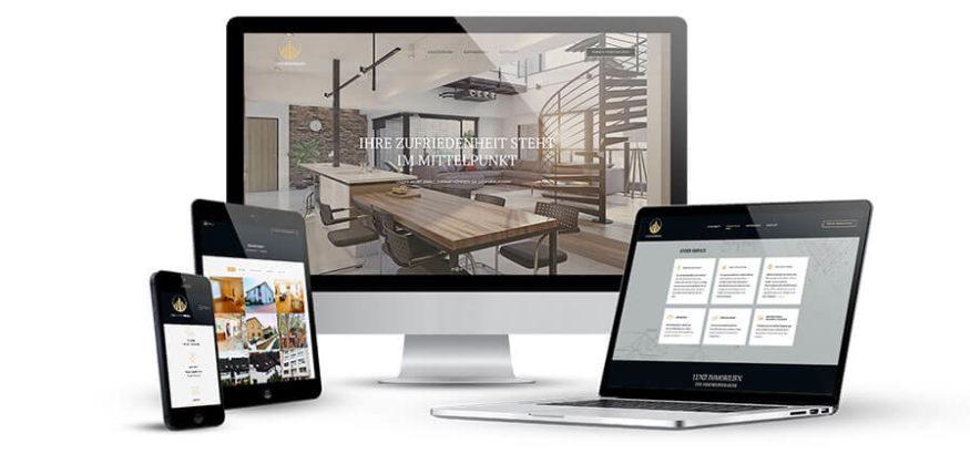 Webdesign Referenzen Lunz Immobilien von KLUCKMEDIA